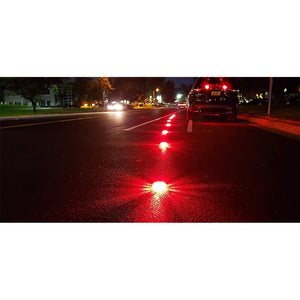 3Pack LED Road Flare Discs with Zip Pouch