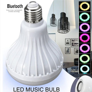 Wireless Bluetooth Speaker Bulb Light Music Play + Remote