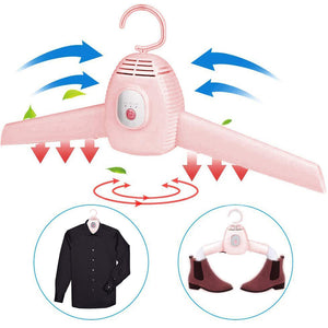 Portable Hanger With Electric Quick Drying Dryer
