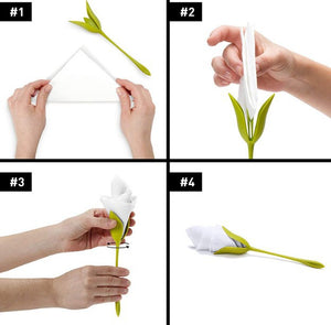 Flower Napkin Holders(4 pcs)