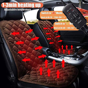 Plush Car Electric Heating Warming Seat Cushion Pad 12V