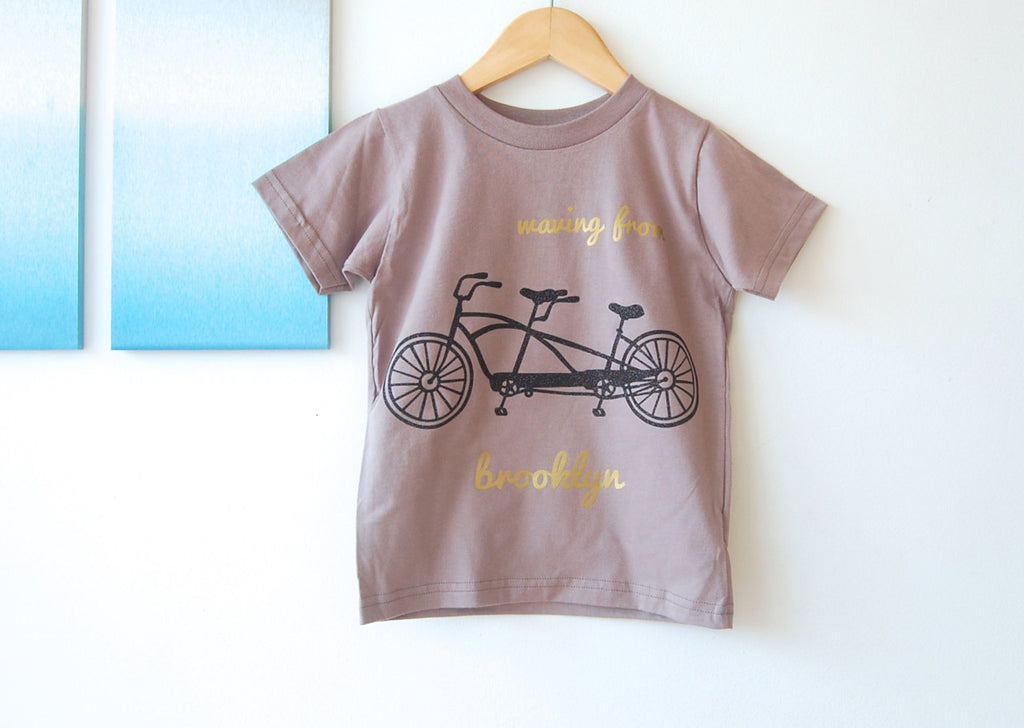 waving from brooklyn : organic kids tee