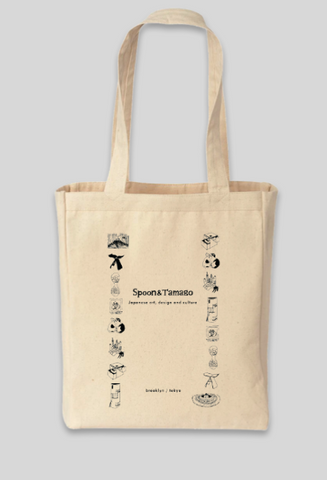Spoon & Tamago Tote Bag - Japanese Art, Design & Culture