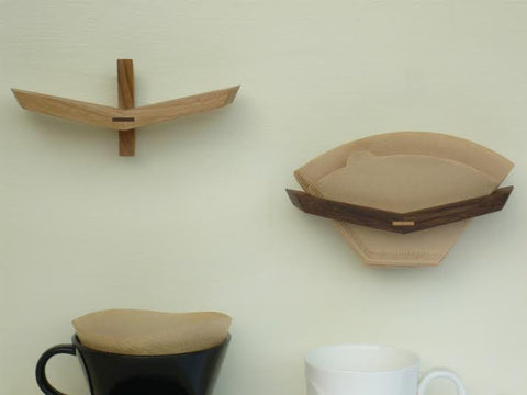 Wooden Coffee Filter Holder