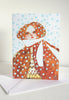 Snow Lady Holiday Cards