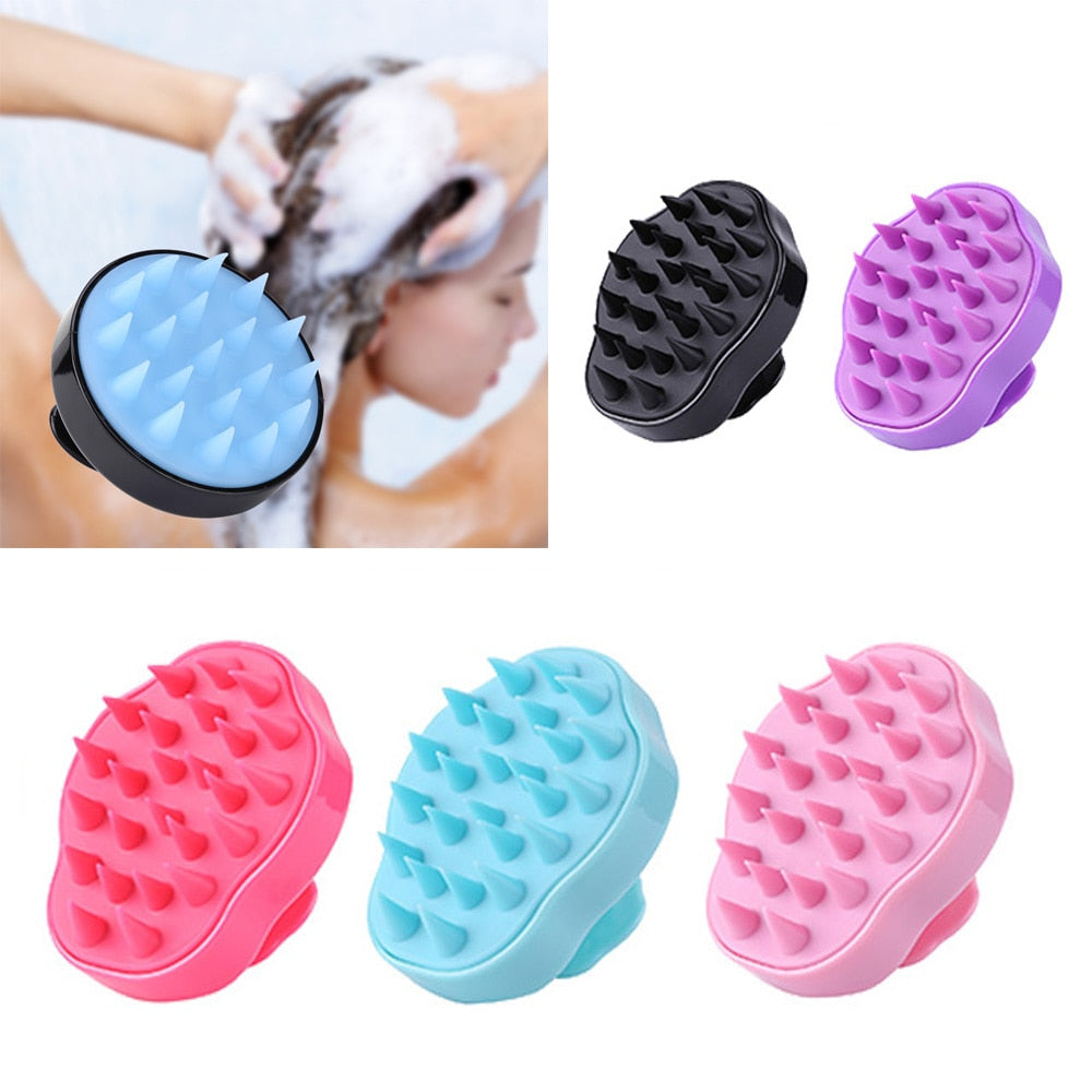 Silicone Head Body Scalp Massage Brush Comb Shampoo Hair Washing Comb Shower Brush Bath Spa Slimming Massage Brush