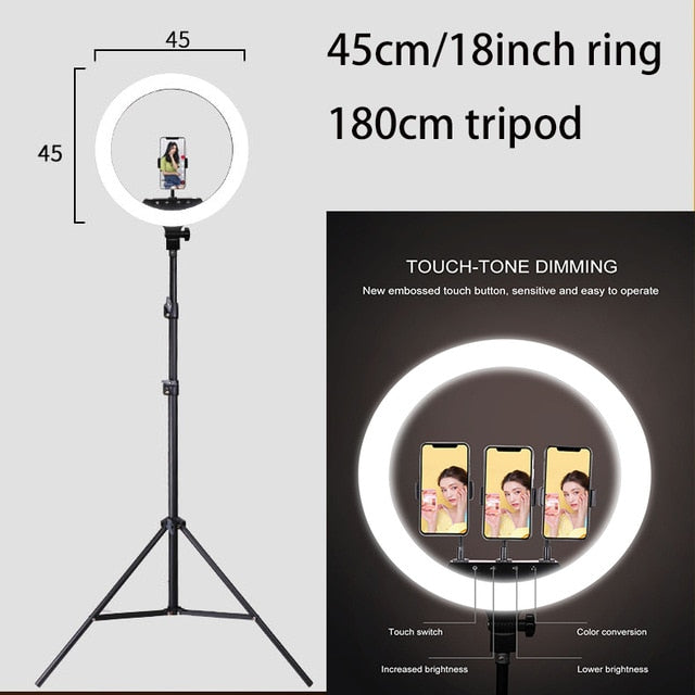New Selfie Ring Light Flash Led Camera Phone Photography Enhancing Photography for Smartphone Studio VK