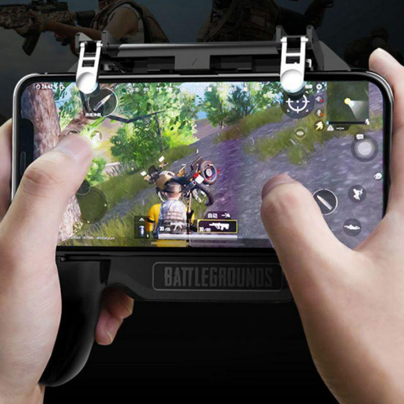 EastVita Gamepad Joystick for pubg Mobile Controller L1 R1 Shoot Handle Gamepad With Cooling Fan for Iphone Android Phone