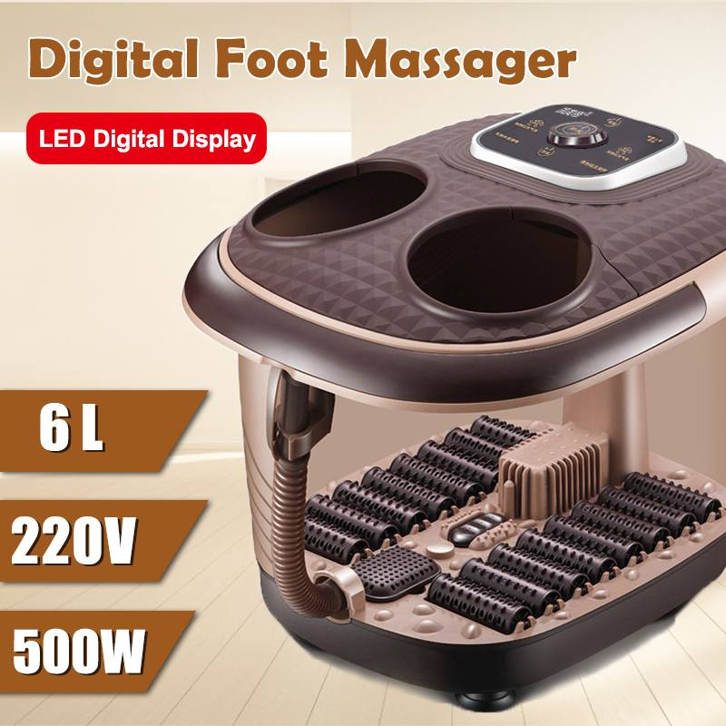 Foot Bath Automatic Feet Soaking Electric Massage Constant Temperature Foot Bath Foot Spa Hot Tub Heated Foot Bath Adult Home