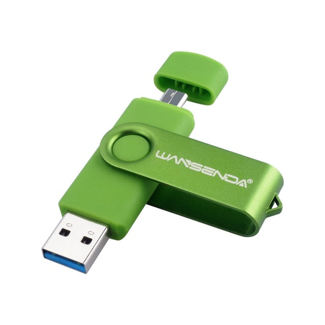 New Usb 3.0 Wansenda OTG USB flash drive for SmartPhone/Tablet/PC 8 Pendrive High speed pen drive package