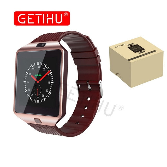 GETIHU DZ09 Smartwatch Smart Watch Digital Men Watch For Apple iPhone Samsung Android Mobile Phone Bluetooth SIM TF Card Camera