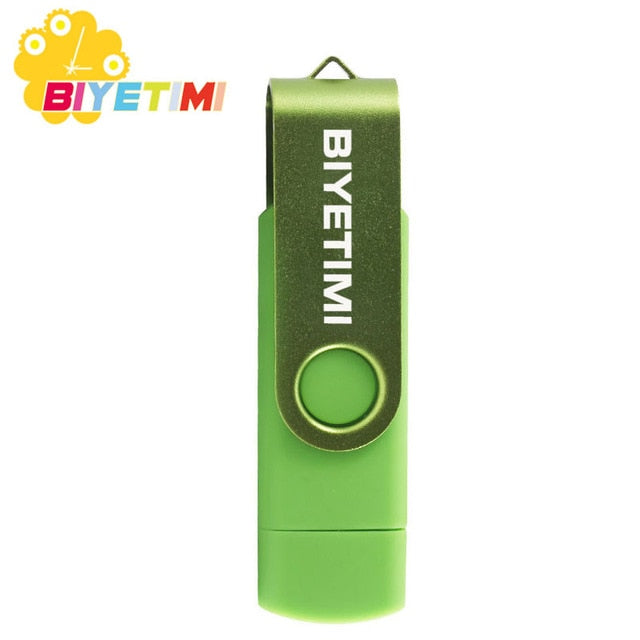 Biyetimi OTG Colorful Usb Flash Drive Pen Drive 32GB 64GB 128GB Memory Usb Stick U Dick Pendrive Flash Drive For Android P