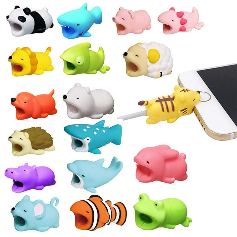 Animal Cable bites Protector for iPhone protect cable