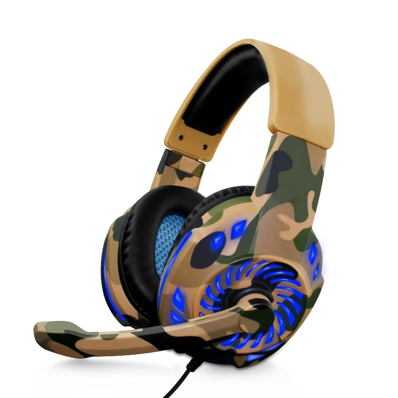Camouflage Headset Bass Gaming Headphones
