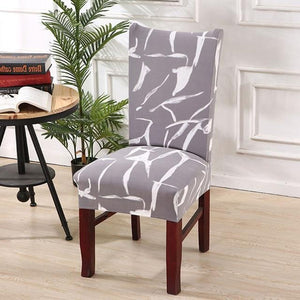 Naturelife Chair Protector  | Modern Silky Seat Case  . Removable Decorative Elastic Polyester Chair Covers