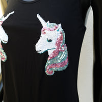 Double Sequin Rainbow Unicorn Tank Top