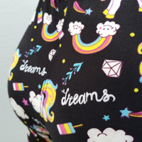 Fun Unicorn Leggings with Rainbows and Smiley Faces - Dream