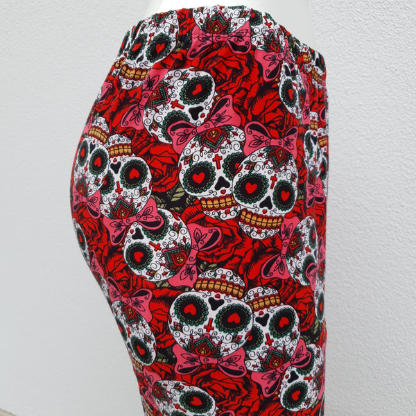Skull Candy Leggings with Roses