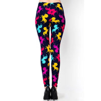 Navy Blue Leggings with Unicorns of differing colours