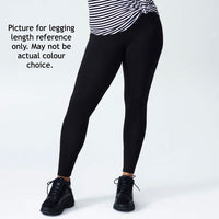 Black leggings with Multi-Coloured Vertical Stripes