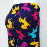 Navy Blue Leggings with Unicorns of different colours