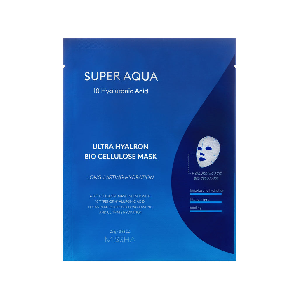 SUPER AQUA ULTRA HYALRON BIO CELLULOSE MASK - MISSHA