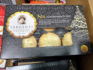 Sargents Luxury Deep Mince Pies 6x