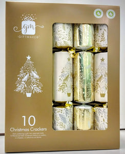 Giftmaker Luxury Christmas Crackers Gold 10pk
