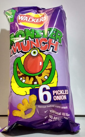 Monster Munch 6-pack Pickled onion