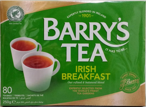 Barry's Tea Irish Breakfast 80 bags 250g
