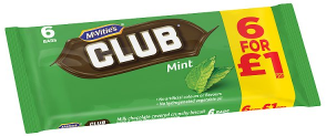 Mcvities Club Mint 6pk