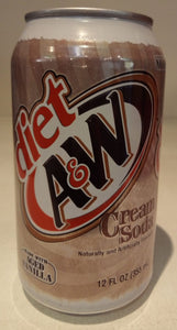 A&W Cream soda diet 355ml