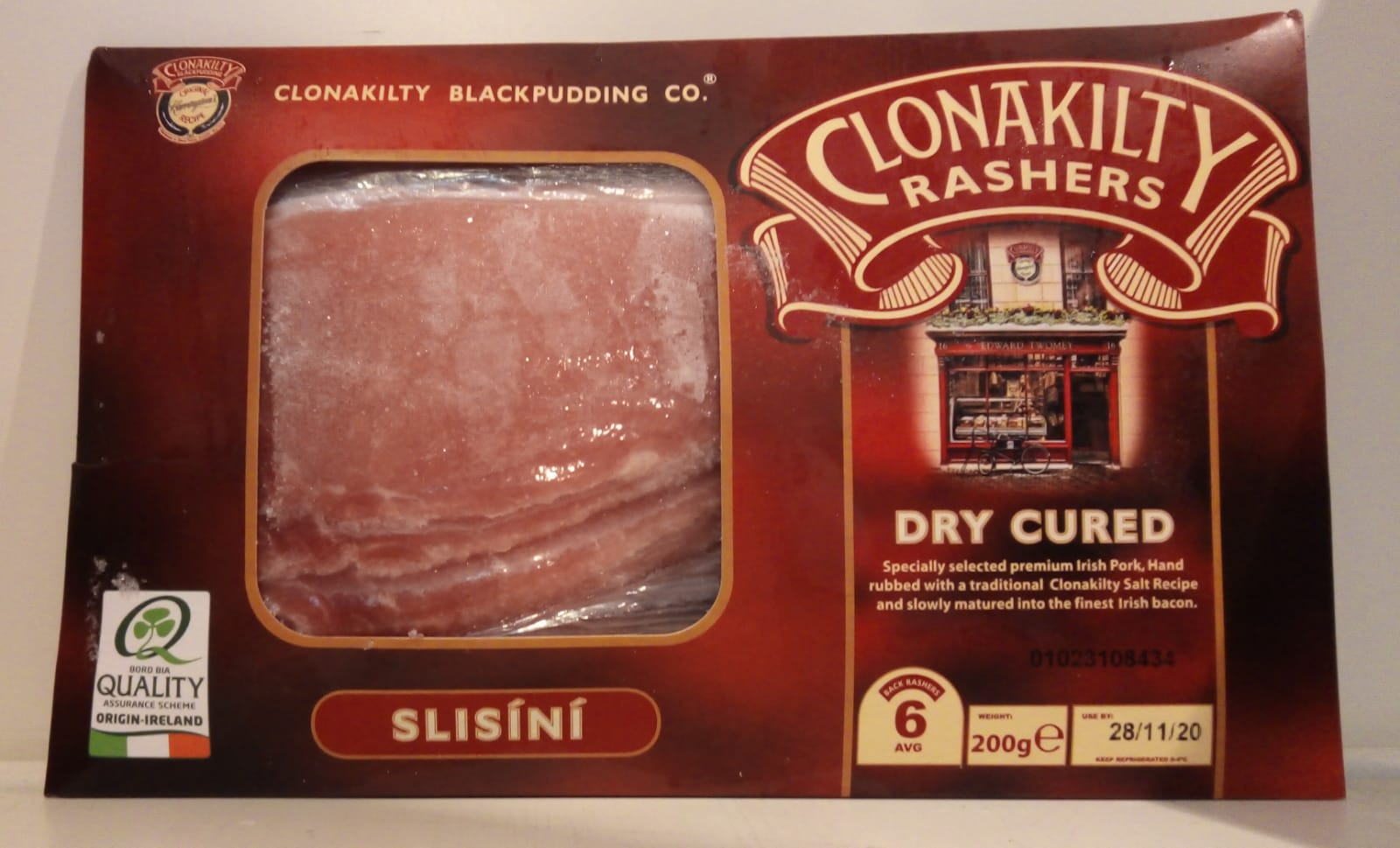 Clonakilty Rashers Dry Cured 200g