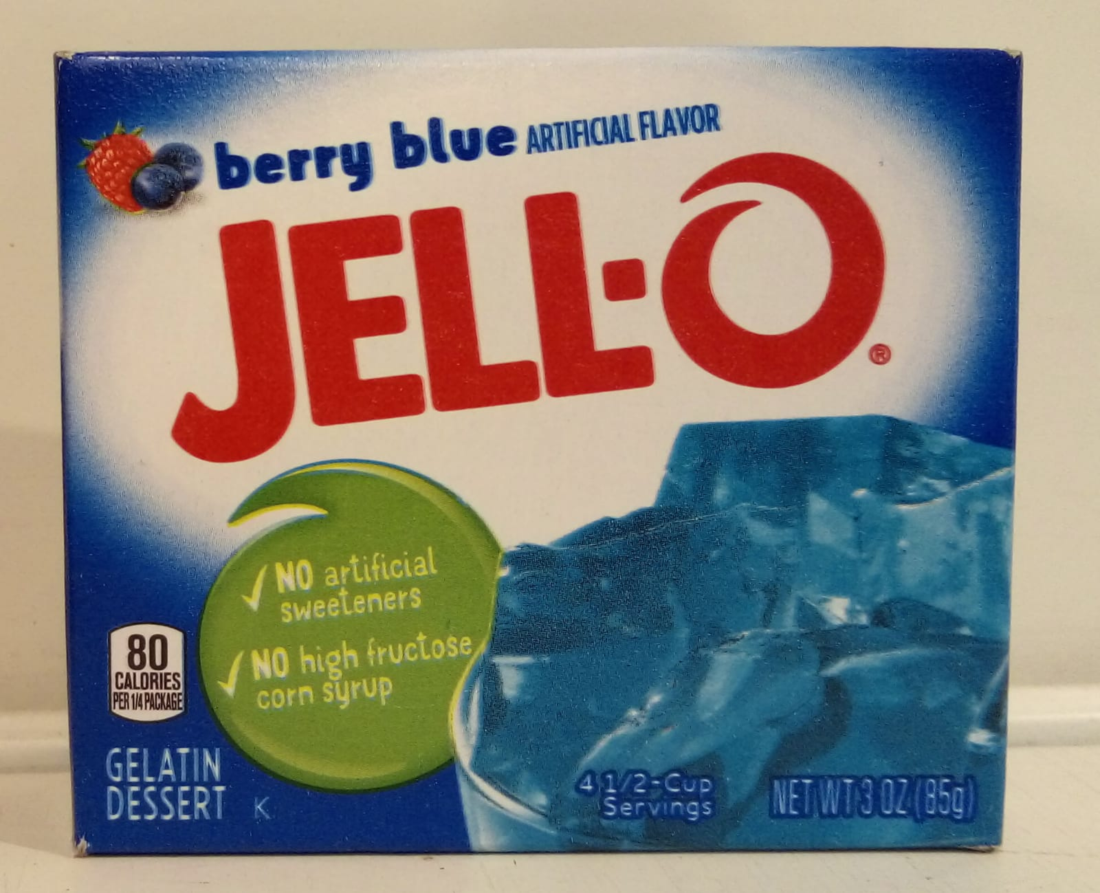Jell-o Gelatin Berry Blue
