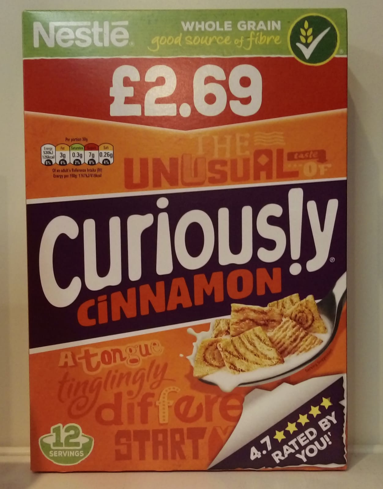 Curiously cinnamon cereal