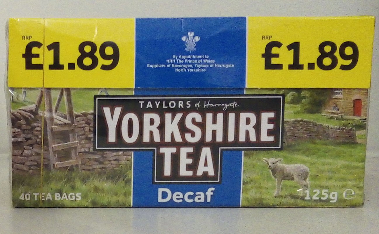Yorkshire Tea Decaf 40 Tea Bags