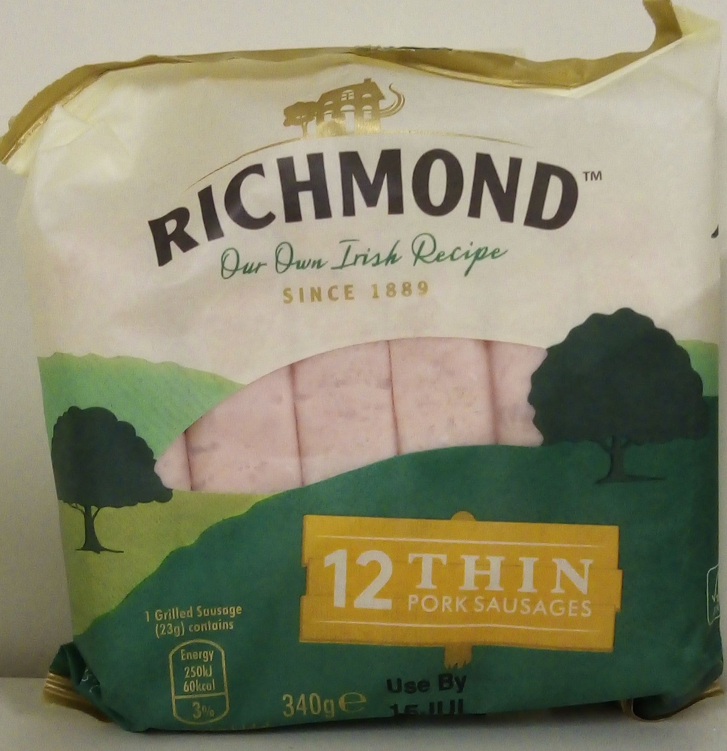 Richmond 12 Thin Pork Sausages 340g