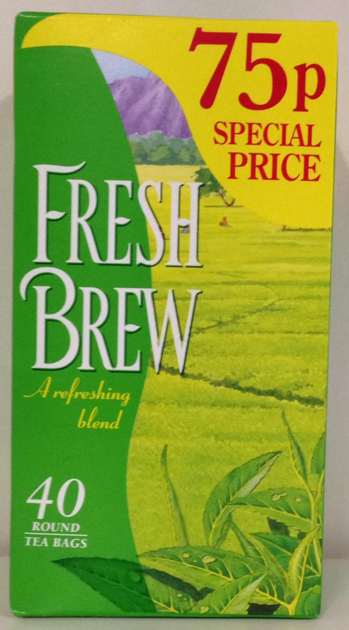 Fresh Brew 40 Round Tea Bags 116g