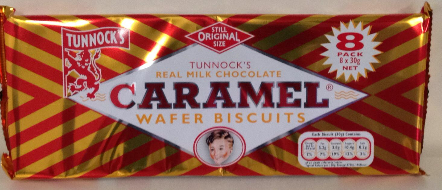 Tunnock's Caramel Wafer Biscuits 8 Pack 240g