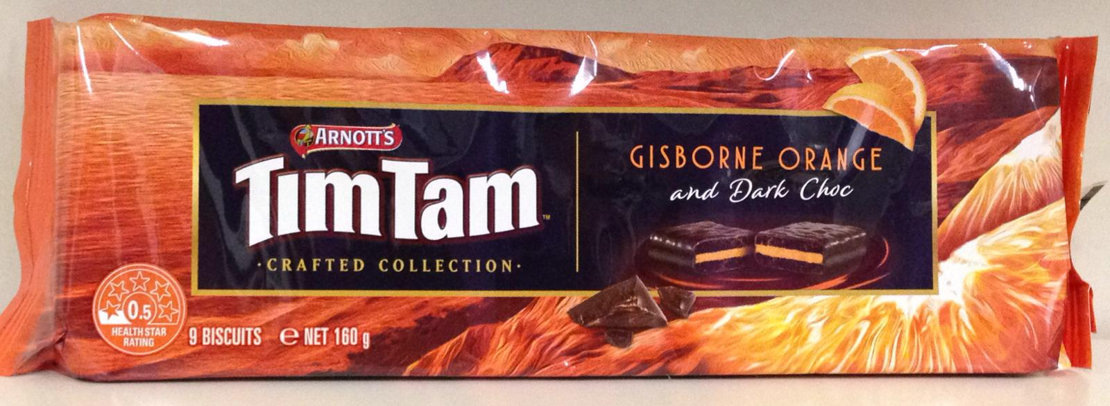 Arnott's Tim Tam Gisborne Orange And Dark Choc 160g