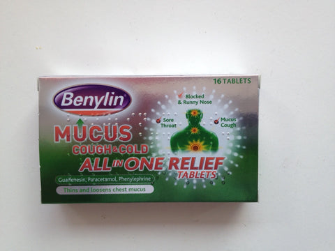 Benylin mucus cough & cold all in one tablets