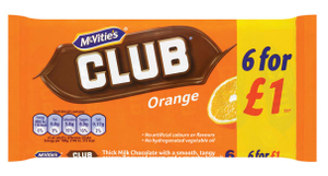 Mcvities Orange Club 6pk