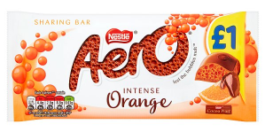 Nestle Aero Orange block 100g