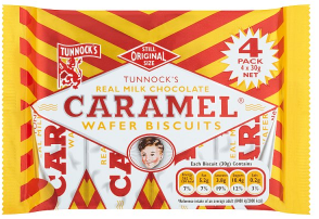 Tunnock's Caramel Wafers 4-pack 120g