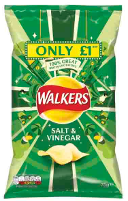 Walkers Salt and Vinegar 75g