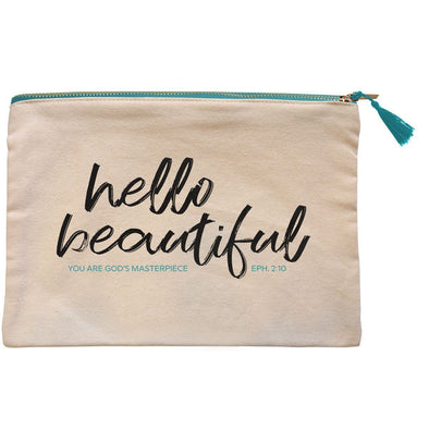 grace & truth™ Hello Beautiful Zipper Bag