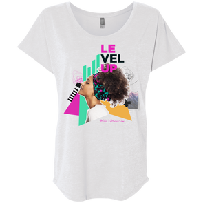T.D. Jakes - Level Up - Ladies' Triblend Dolman T-Shirt