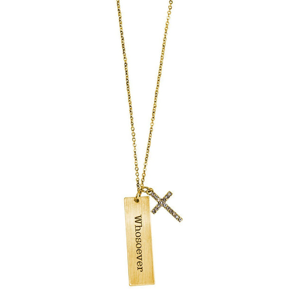 Faith Gear® Whosoever Womens Tab Necklace