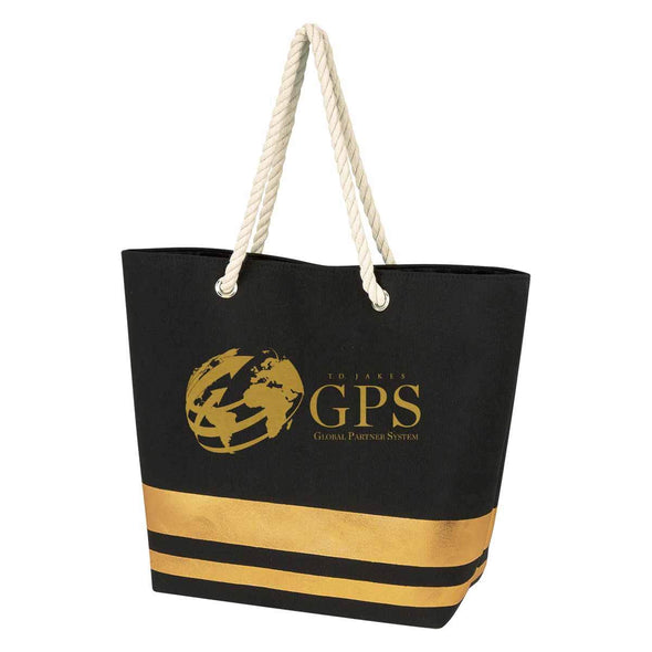 T.D. Jakes - Tote Bag - GPS - Black and Gold