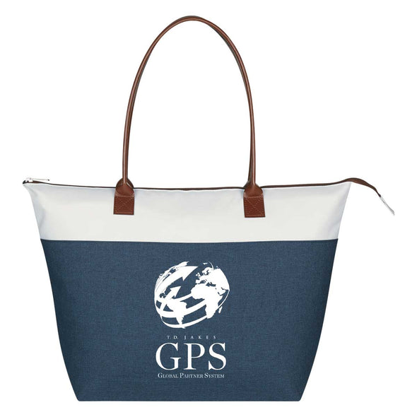 T.D. Jakes - Tote Bag - GPS - Blue and White